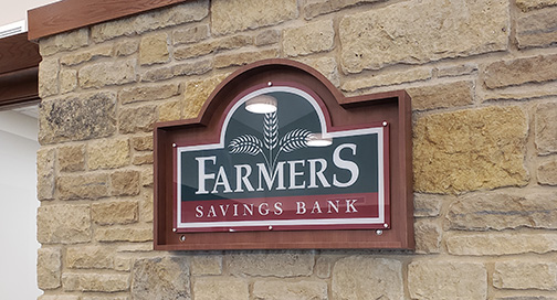 Farmers Bank Wall Sign by BPI Color
