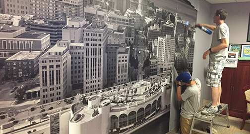 Kayser Ford Wall Mural Installation by BPI Color