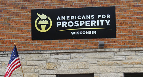 Americans for Prosperity Sign by BPI Color