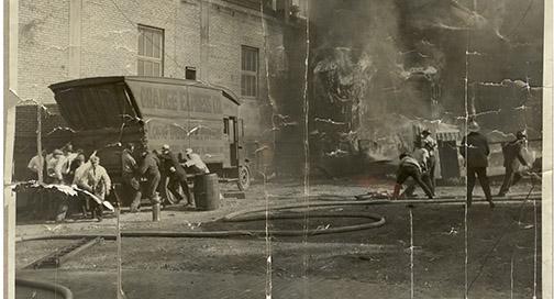Vinatge Coakley Fire image restoration