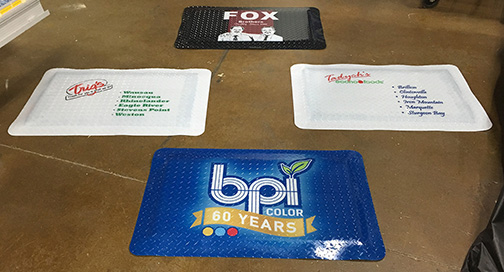 Custom Color Floor Mattes from BPI Color