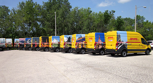 DHL Fleet Graphics