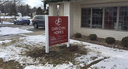 Dan Chin Homes Sign by BPI Color