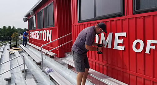Edgerton High School Press Box Install