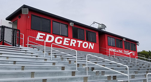 Edgerton High School Press Box Signage