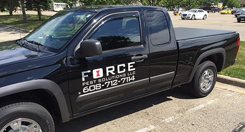 Force Pest Control Truck Graphics