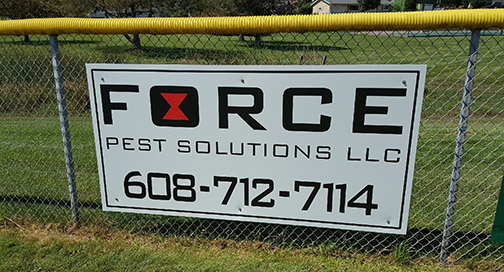 Force Pest Control Sign
