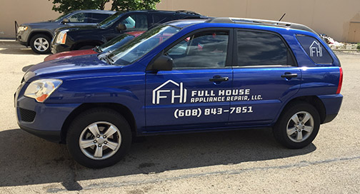 Full House Appliance Vehicle Graphics