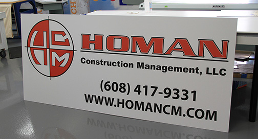 Hoffman Construction Sign