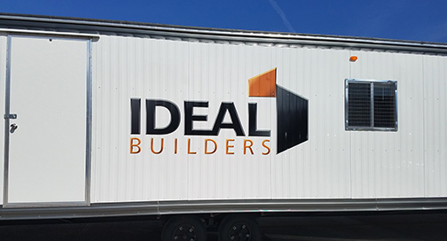Ideal Builders Trailer Graphics by BPI Color