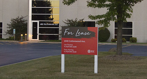 JLL For Lease Sign
