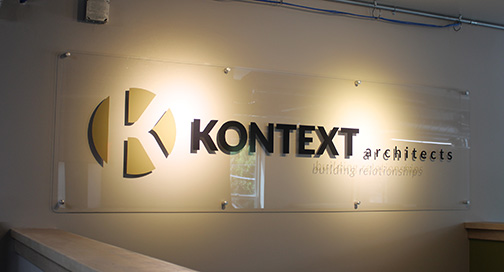 Kontext Architects signage by BPI Color