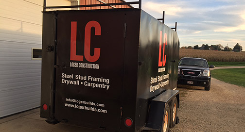 Loger Construction Trailer Graphics