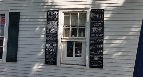 McFarland House Window Menu Board