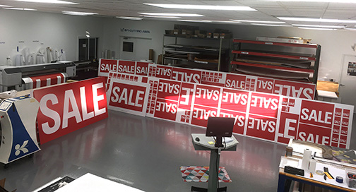 SALE Signs in Production W