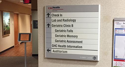 UW Health East Clinic Signage
