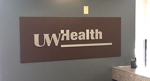 UW Health Sign by BPI Color