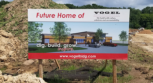 Vogel Construction Site Sign