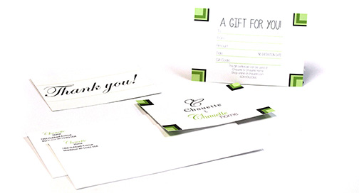 Gift card printed at BPI Color