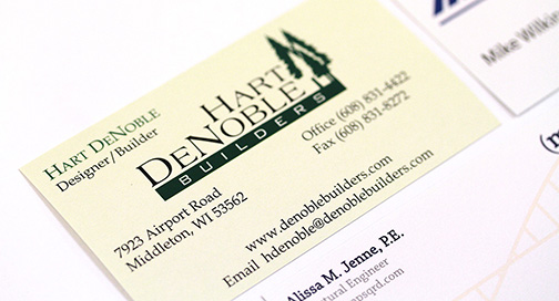 Business Cards printed at BPI Color