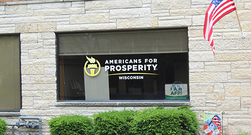 Americans for Prosperity Window Graphics by BPI Color