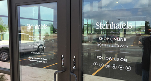 Steinhafels Oshkosh Door Decals