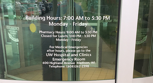 West Clinic Store Hours by BPI Color