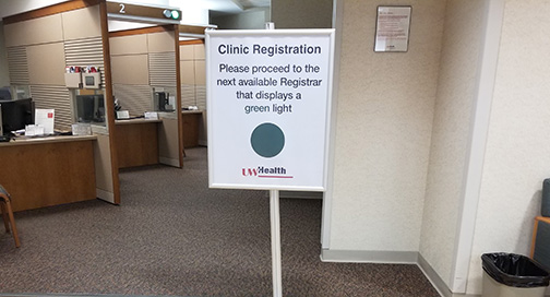 Clinic Registration Signs by BPI Color