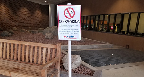Free Standing No Smoking Sign