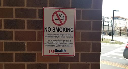 No Smoking Sign by BPI Color