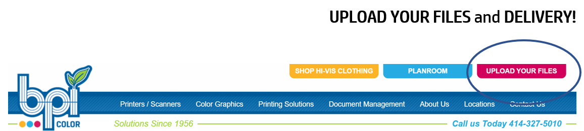 Upload your print files to BPI via the website