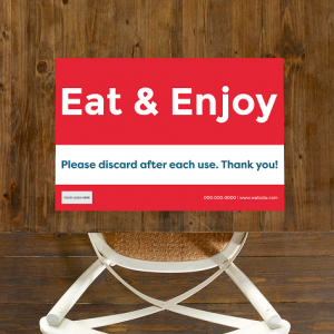 Single Use, Placemat Signs - Sandwich Theme