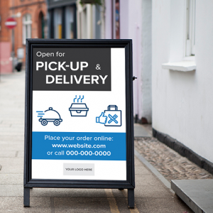 Pickup, Delivery, Curbside Signs - Boxy Theme
