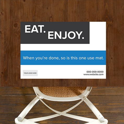 Single Use, Placemat Signs - Boxy Theme