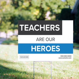 Supporting Heros Signs - Boxy Theme