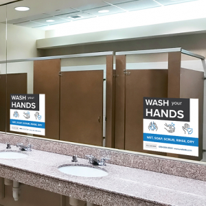 Wash Hands, Hygiene Signs - Boxy Theme