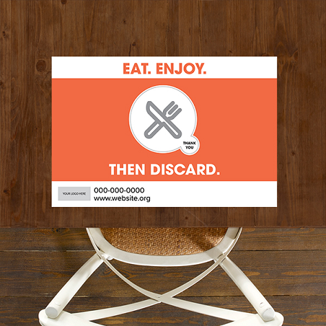 Single Use, Placemat Signs - Double Bubble Theme
