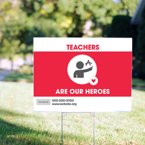 Supporting Heros Signs - Double Bubble Theme