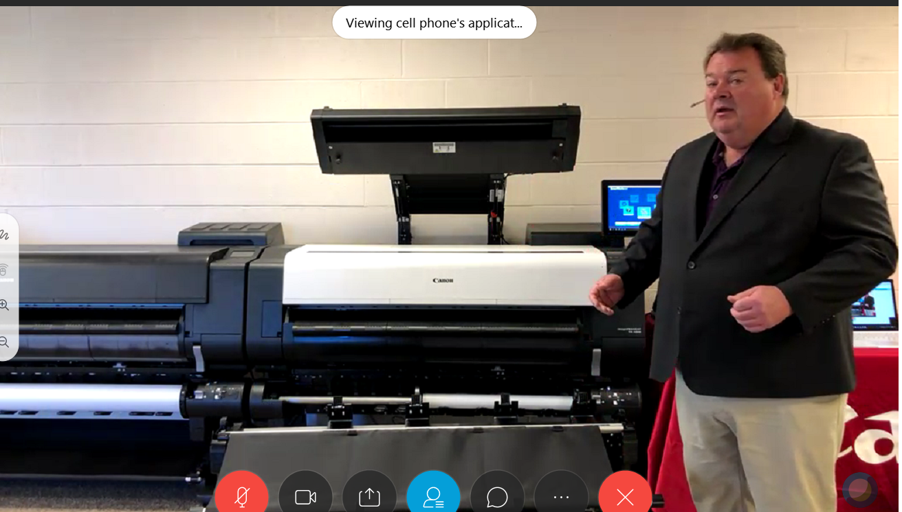 David Rice of Canon giving a Virtual Demonstration