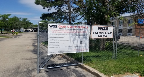 Construction Site Signage with BPI Color