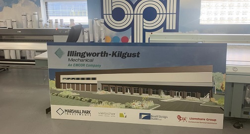 Illingworth-Kilgust construction site signage