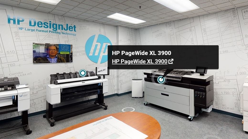 3D Scanning HP PageWide Demo Room
