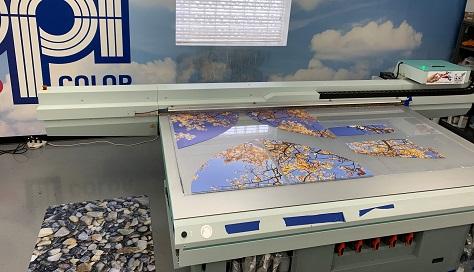 Clear acrylic printing followed by custom cutting